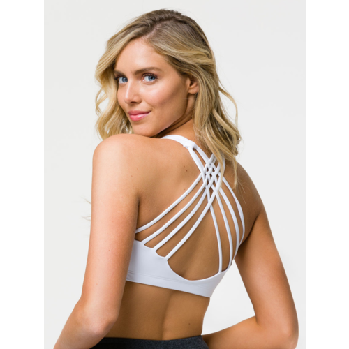 Onzie Yoga Wear Chic Bra Top - White (XS/S/M/L)