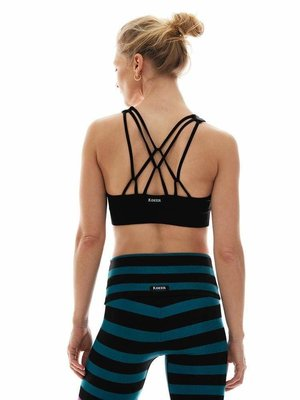 K-DEER Triple Loop Sports Bra - Black (removable cups) (M)