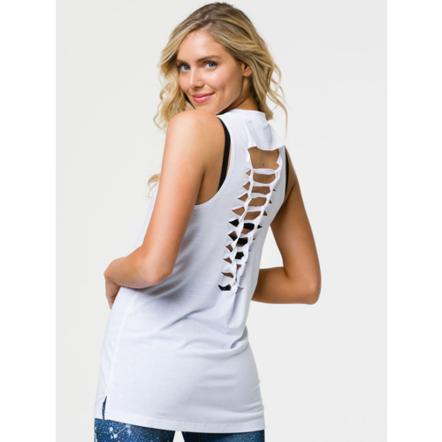 Onzie Yoga Wear Braid Tank White (M/L)