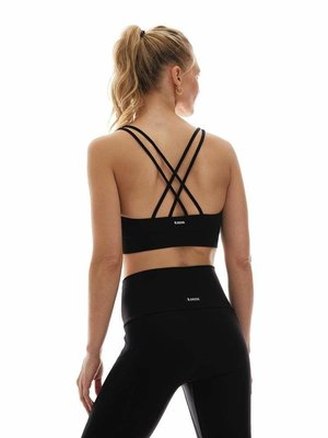 K-DEER Criss Cross Sports Bra - Black (uitneembare cups) (XS/S/M/L/XL/2XL)