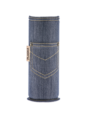 Flaska Water Bottle Beschermhoes Neo Design - Jeans 0,75 liter