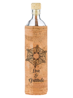 Flaska Water Bottle Water Bottle Cork - Spiritual Emoto Peace Project (0,3L/0,5L/0,75L)