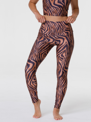 Onzie Yoga Wear High Rise Legging - Tiger (S/M/L)