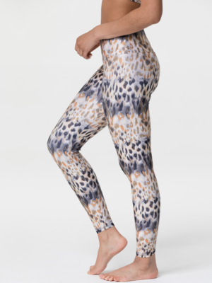 Onzie Yoga Wear High Rise Tech Legging - Safari (XS/S/M)