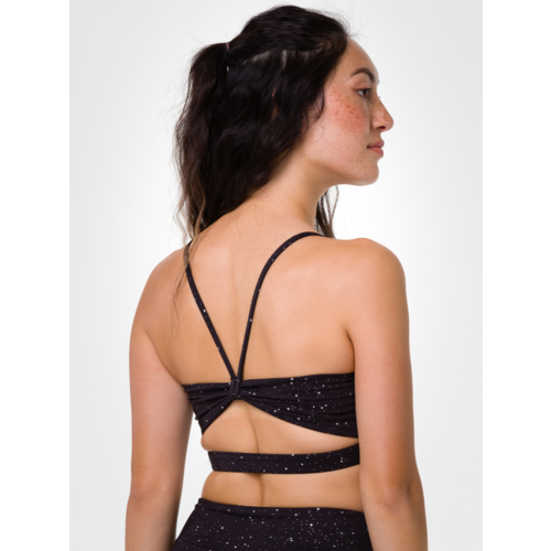 Onzie Yoga Wear Bow Bra - Enlightened Foil (removable cups) (S/M/L)