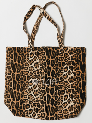 Onzie Yoga Wear Canvas Tote Bag - Leopard