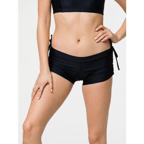 Onzie Yoga Wear Side String Short - Black (S/M)