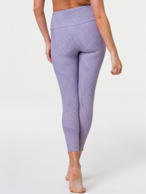 Onzie Yoga Wear High Rise Selenite Midi Legging - Lavender Gray (S/M)