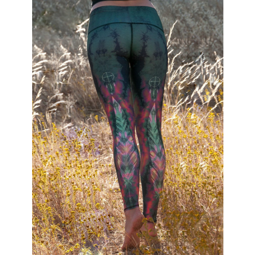Teeki Yogakleding Eagle Feather - Hot Pants Legging (XS)