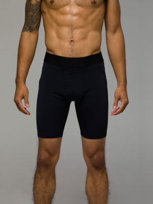 Onzie Yoga Wear Men Biker Short - Black (M)
