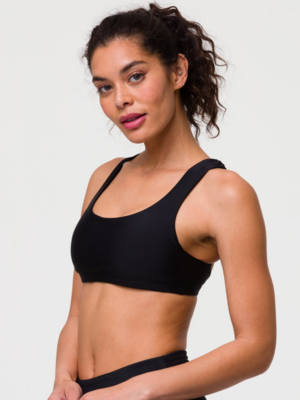 Onzie Yoga Wear Mudra Bra - Black (removable cups) (XS/S/M/L)