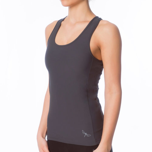 Dragonfly Yoga Wear Christine Sports Tank Top - Grey (S/M)