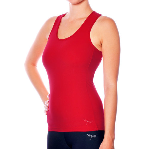 Dragonfly Yoga Wear Christine Sports Tank Top - Red (S/M)
