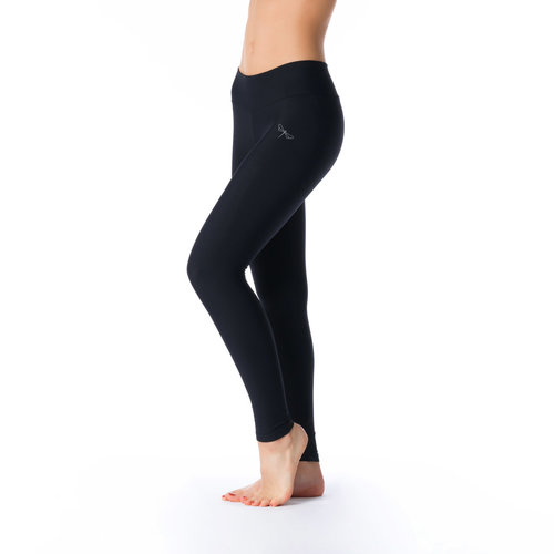 Dragonfly Yoga Wear Adriana Long Leggings - Black (XS/S/M)
