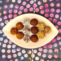 Chai sweet potato bliss balls