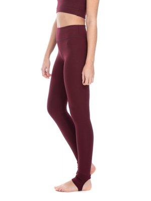 Shambhala Barcelona High Rise Gita Legging - Maroon (S/M)