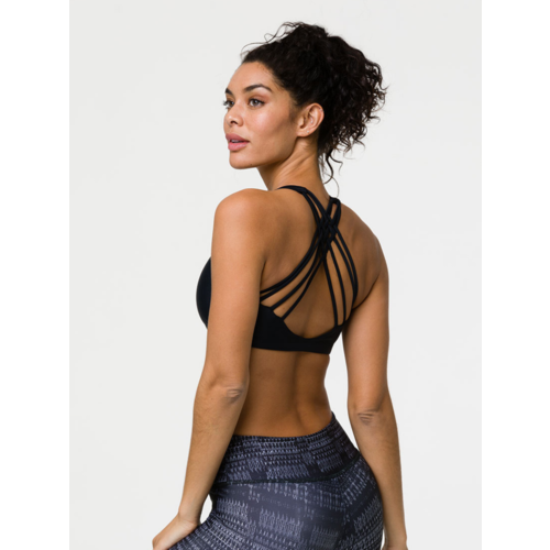 Onzie Yoga Wear Chic Bra Top - Black (XS/S/M/L)