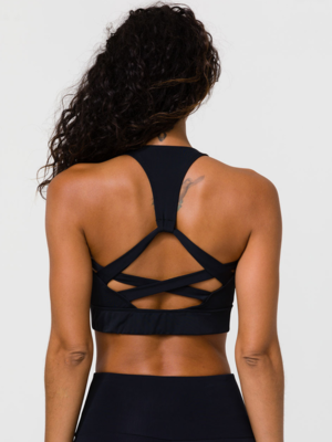 Onzie Yoga Wear Warrior Bra - Black (removable cups) (XS/S/M/L)
