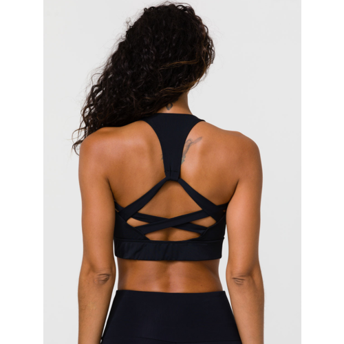 Onzie Yoga Wear Warrior Bra - Black (uitneembare cups) (XS/S/M/L)