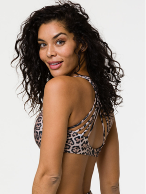 Onzie Yoga Wear Chic Bra Top - Leopard (XS/S/M/L)