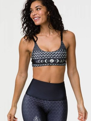 Onzie Yoga Wear Graphic Elastic Bra Top - Las Lunas (XS/S/M/L)
