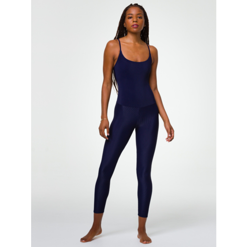 Onzie Yoga Wear Long Rib Leotard - Marine Navy Rib (M)