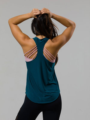 Onzie Yoga Wear Glossy Flow Tank - Teal