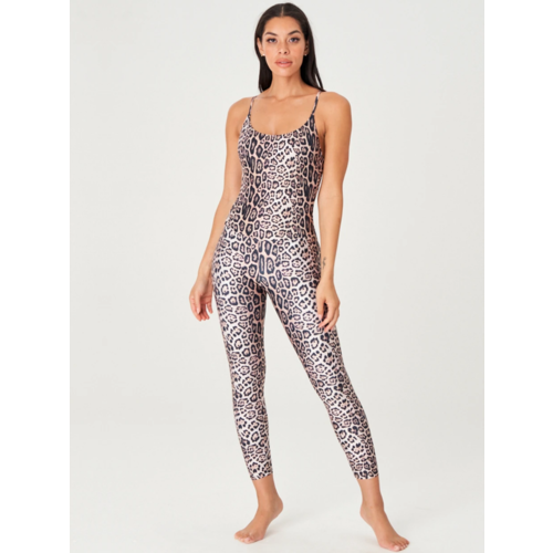 Onzie Yoga Wear Long Leotard - Leopard (S/M)