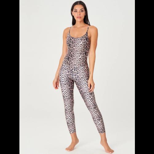 Onzie Yoga Wear Long Leotard - Leopard (S/M)