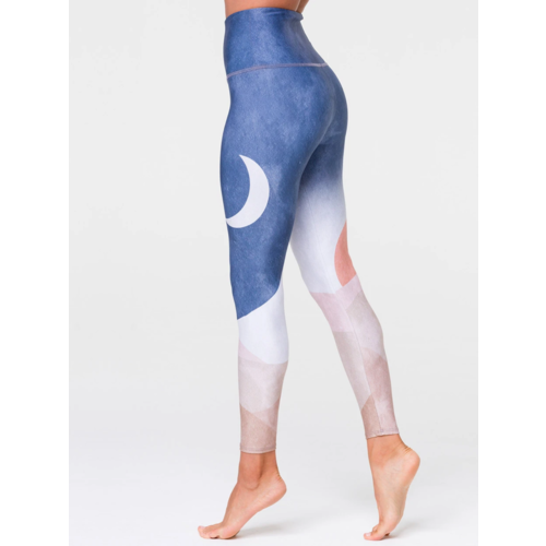 Onzie Yoga Wear High Rise Midi Legging  - Sustainable Soul - Sol Y Luna (S/M)