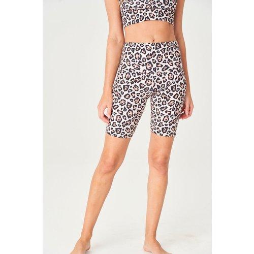 Onzie Yoga Wear High Rise Short - Gold Cheetah (XS/S/M)