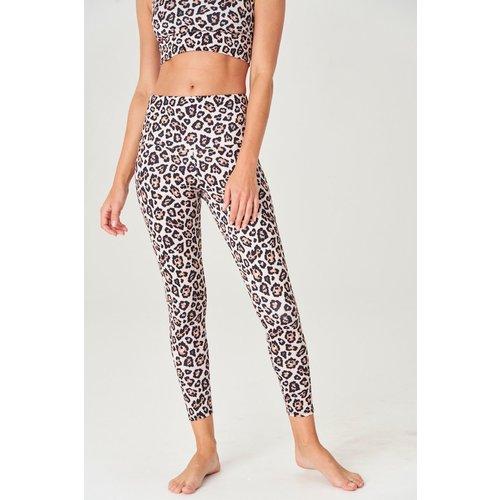 Onzie Yoga Wear High Rise Midi Legging - Gold Cheetah (XS/S/M/L)