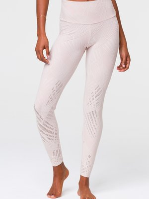 Onzie Yoga Wear High Rise Selenite Midi Legging - Cuban Sand (XS/S/M)