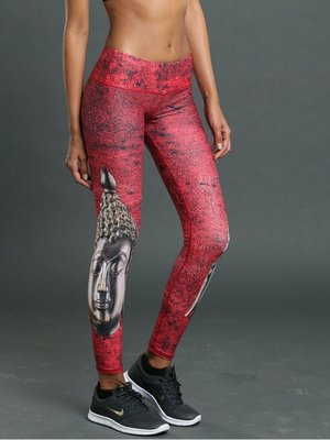 Noli Yoga Wear Buddha Legging - Crimson (M)
