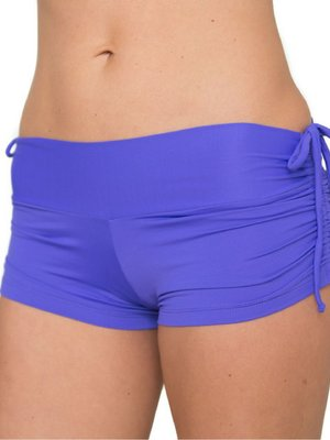 LaLa Land Yoga Wear Baby Cake Shorts - Periwinkle (M)