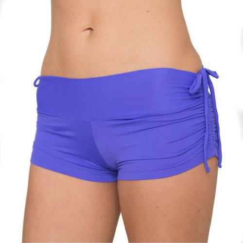 LaLa Land Yoga Wear Baby Cake Shorts - Periwinkle (S/M)