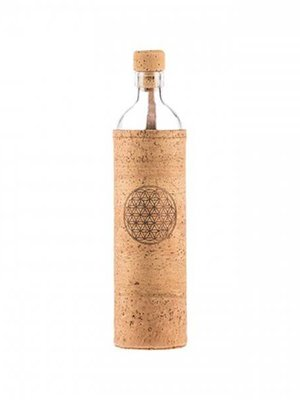 Flaska Water Bottle Waterfles Kurk Flower of Life (0,3L/0,5L/0,75L)