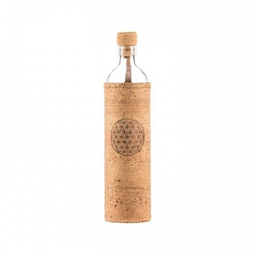 Flaska Water Bottle Water Bottle Natural Cork Flower of Life (0,3L/0,5L)