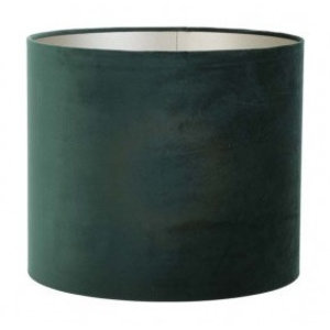 Light & Living Lampenkap 35 cm Cilinder VELOURS Dutch Green