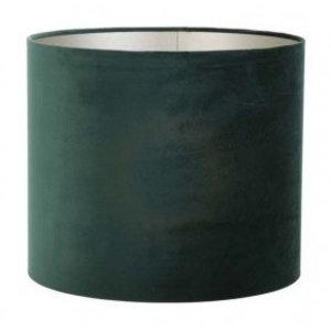 Light & Living Lampenkap 40 cm Cilinder VELOURS Dutch Green