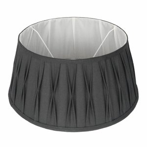 Collectione Lampenkap 20 cm Drum Plisse RIVA Grijs