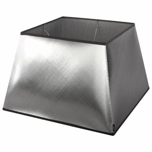Collectione Lampenkap 20 cm Vierkant AZZURO Zilver