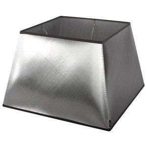 Collectione Lampenkap 40 cm Vierkant AZZURO Zilver