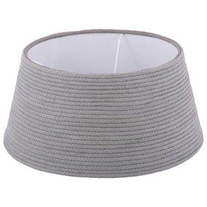 Collectione Lampenkap 25 cm Drum COTTON ROPE Grijs