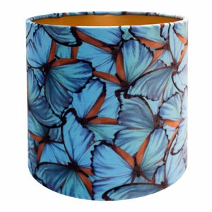 RamLux Lampenkap 15 cm Cilinder VELVET Passion Blue