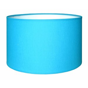 RamLux Lampenkap 35 cm Cilinder CHINTZ Aqua Blauw