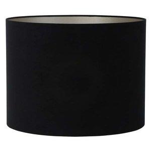 Light & Living Lampenkap 45 cm Cilinder VELOURS Zwart