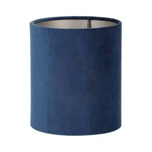 Light & Living Lampenkap 22 cm Cilinder VELOURS Petrol Blue