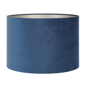 Light & Living Lampenkap 35 cm Cilinder VELOURS Petrol Blue