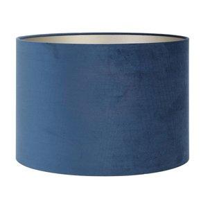 Light & Living Lampenkap 40 cm Cilinder VELOURS Petrol Blue
